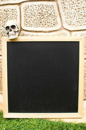 cranium: Blackboard and Halloween cranium