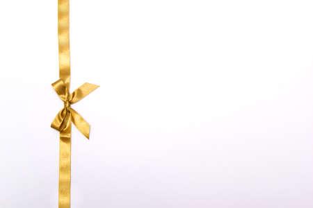 Christmas ribbon on white background Stock Photo - 33037977