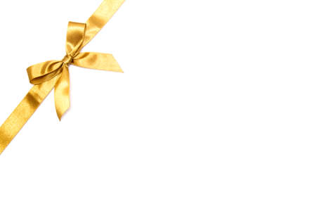 Christmas ribbon on white background