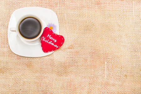 Coffee and Christmas heart photo