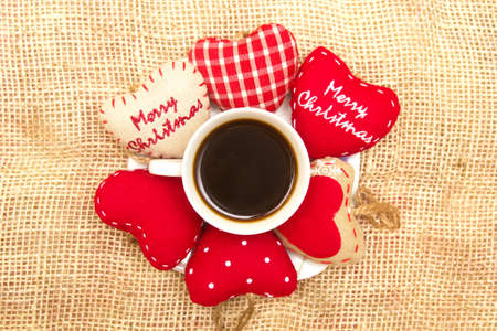 Coffee and Christmas heart