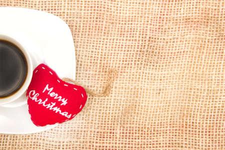 Coffee and Christmas heart photo
