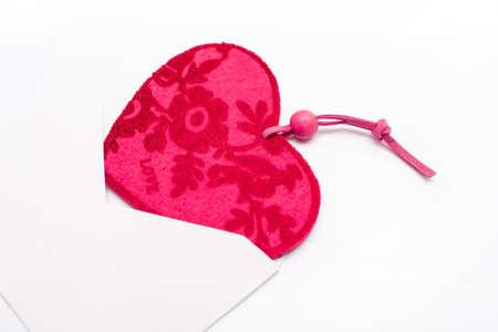recibo: Coraz�n de San Valent�n en un sobre Foto de archivo