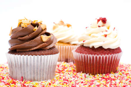Geburtstag Cupcakes Standard-Bild - 34571110