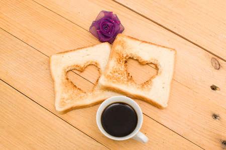 petit dejeuner romantique: Petit d�jeuner romantique Banque d'images