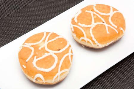Cream donut photo