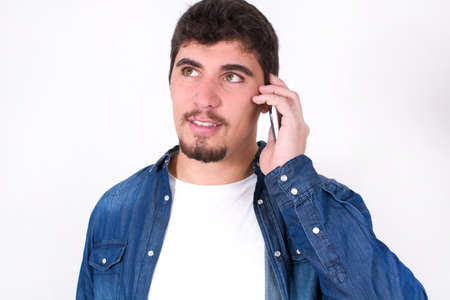 phonecall: handsome talking on phone
