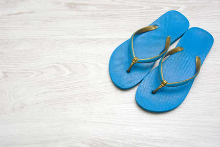 summer shoes: summer shoes on wood