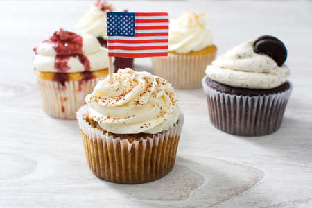 american dessert: american cupcakes Stock Photo