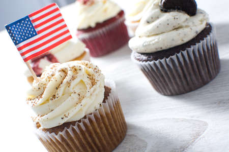 whim: american cupcakes Stock Photo