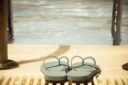 swimming shoes: swimming pool and summer shoes vintage