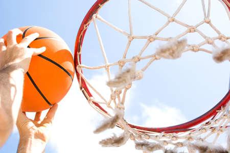 crucible: man playing basketball Stock Photo