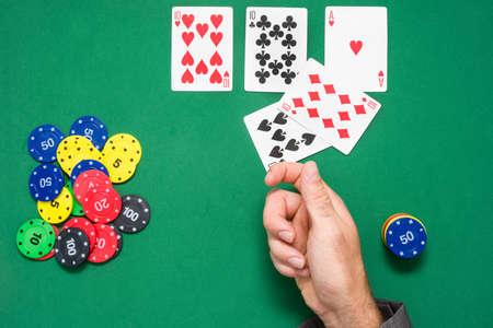 poker: Man playing poker