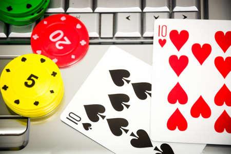 poker chip: Poker on line