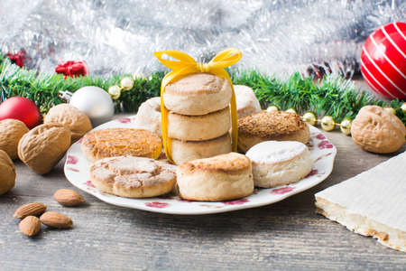 shortbread: Christmas shortbread and Christmas decoration