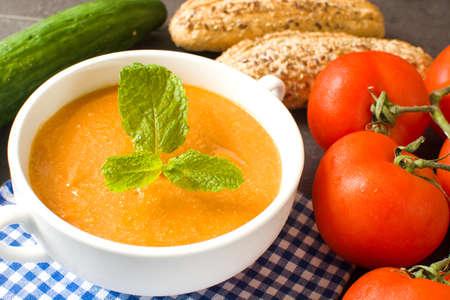 gazpacho: Tomato soup gazpacho Stock Photo