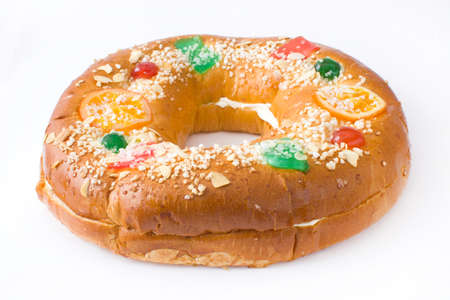 epiphany: Roscn Kings. Spanish typical dessert of epiphany Stock Photo
