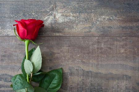 バレンタイン ローズ 写真素材