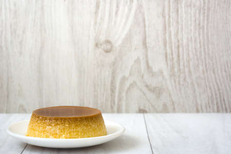 custard flavor: caramel custard on wood