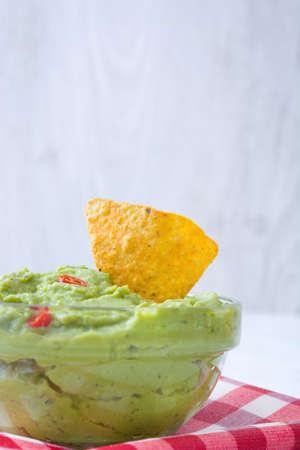 guacamole: Guacamole With Nachos Stock Photo