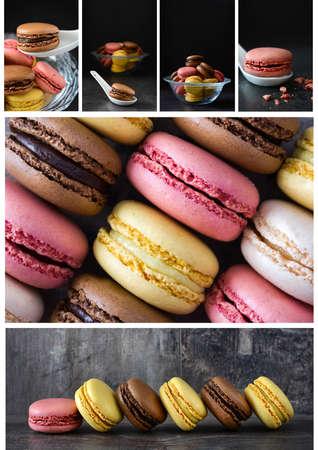 macarons: macarons collage