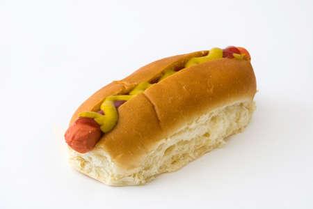 unhealth: Hot dog. isolated photo