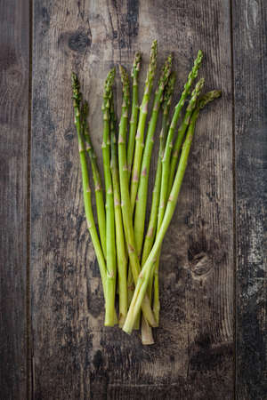 rustic: Asparagus on a rustic wood