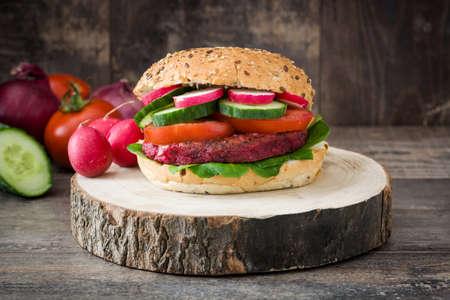 remolacha: hamburguesas de verduras de remolacha