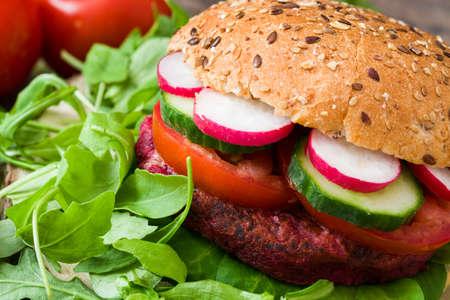 beet: Veggie burgers beet
