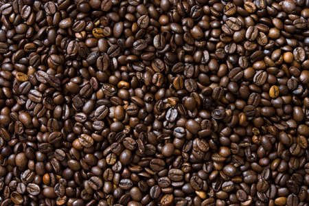 Coffee beans background Imagens