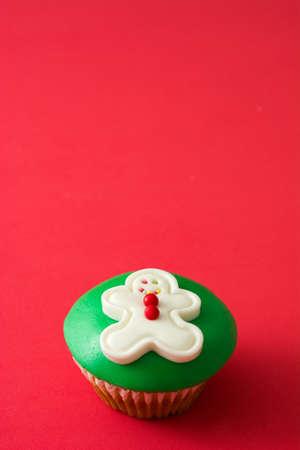 gingerbread man: Gingerbread man cupcake Stock Photo
