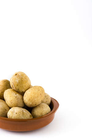 mojo: Canarian potatoes (boiled potatoes) isolated on white background