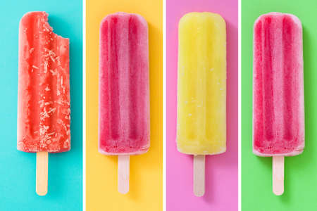 Collage of summer popsicles Stock Photo