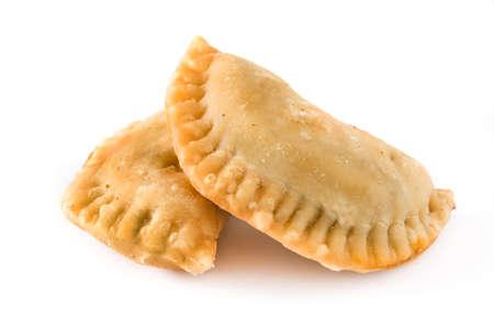Typische spanische Empanadas isoliert auf weißem Hintergrund Standard-Bild - 77661555