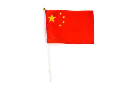 Chinese flag isolated on white background Reklamní fotografie