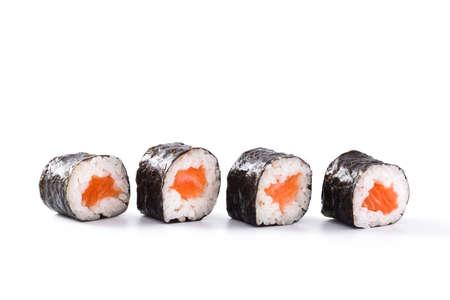 sushi isolated on white background Banco de Imagens