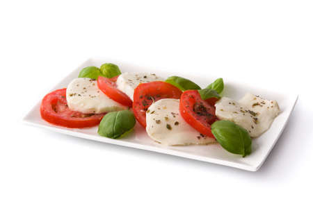 Caprese salad isolated on white background Banque d'images