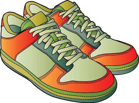 sport schoenen Vector Illustratie