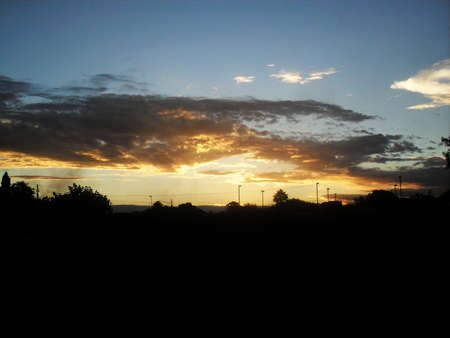 sillhouette: Sunset - Clouds and sillhouette of the trees 2