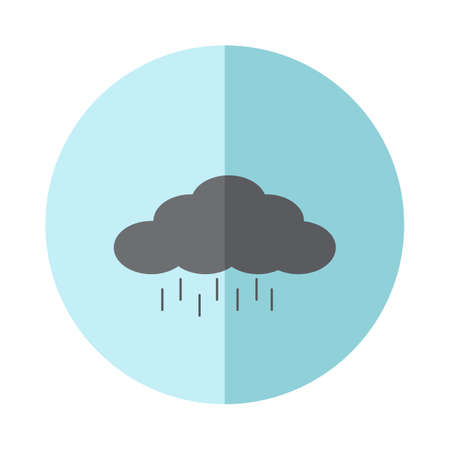 natue: vector rain cloud icon Illustration