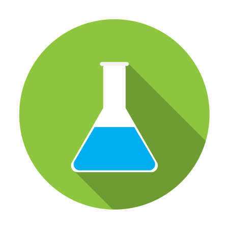 flat: test-tube flat icon Illustration