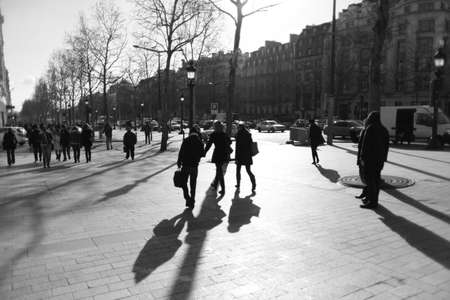 champs: France, Paris, Champs Elysees Editorial