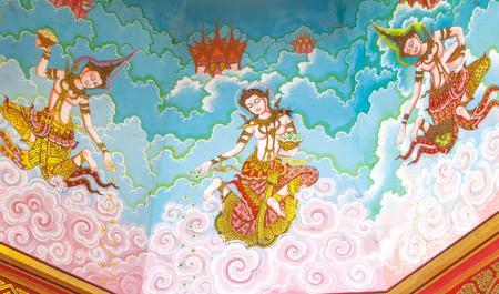 Art Thai style in temple