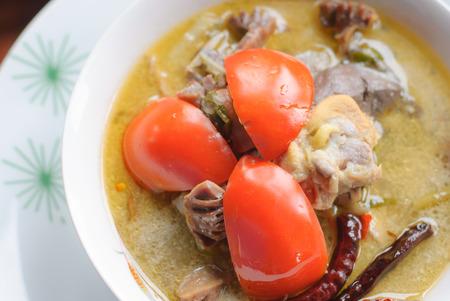 Thai Cuisine- Tom Kha Kai -chicken In Coconut Milk Soup photo