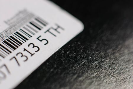in particular: Black and white barcode. Particular of a Barcode