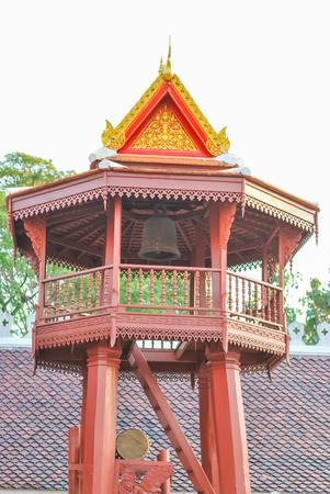 belfry: Belfry At Temple In Thailand , religion Stock Photo