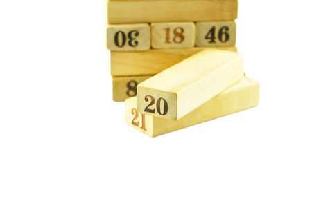 is outlined: isolated outlined numbers in letterpress wood type Stock Photo
