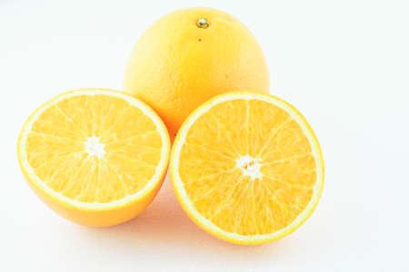 naranja fruta: Orange fruit isolated on white background. Close up.