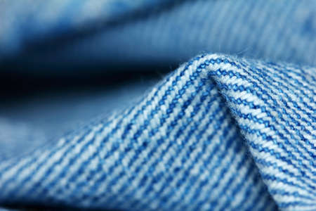 beautiful blue texture of cloth in abstract macro for beautiful  background