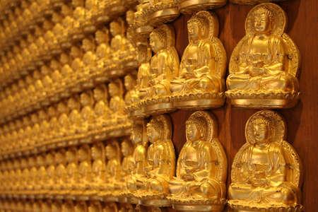 chinese buddha: Chinese Buddha wall art Stock Photo